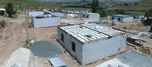 اجرای اسکلت و ساختمان با سیستم ICF بصورت کلید تحویل در روستای زرین جو از مناطق زلزله زده سرپل ذهاب ۲۰ واحد